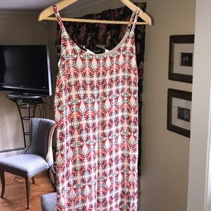 Cabi Summer Dress with Adjustable Straps and Liner